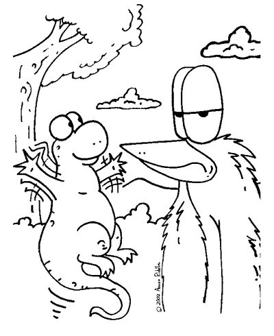 Free coloring pages of Creatures