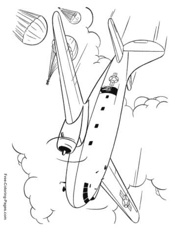- Airplane Coloring Pages