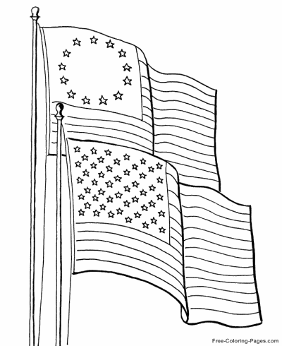 - American Flag Coloring Pages