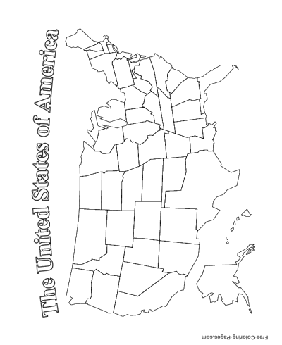 US Map Coloring Pages - Best Coloring Pages For Kids | 490x400
