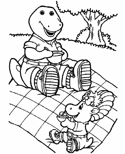 Print Barney Coloring Pages