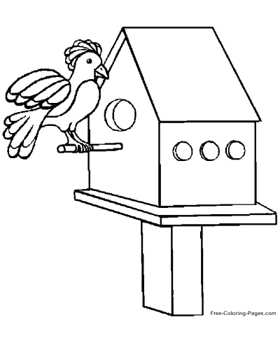 Printable coloring book pages of birds 01