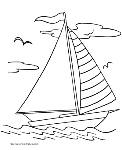 sail boat coloring pages Boat Coloring Pages sail boat coloring pages
