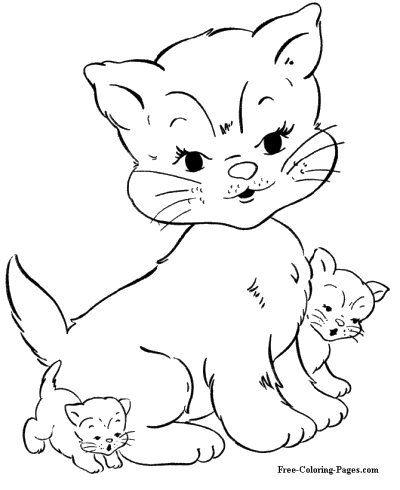 coloring pages of cats