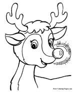 Christmas coloring book pages - Rudolph