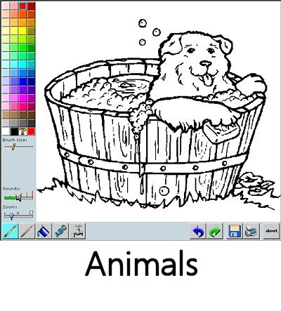 Color animals online