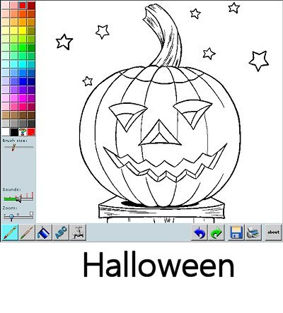 Online Halloween Coloring - Color pictures online!