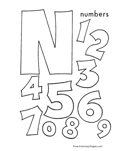 Preschool Number Worksheets - Counting Activity