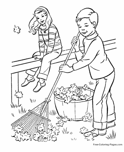 Autumn or fall coloring pages sheets and pictures for Free fall coloring pages