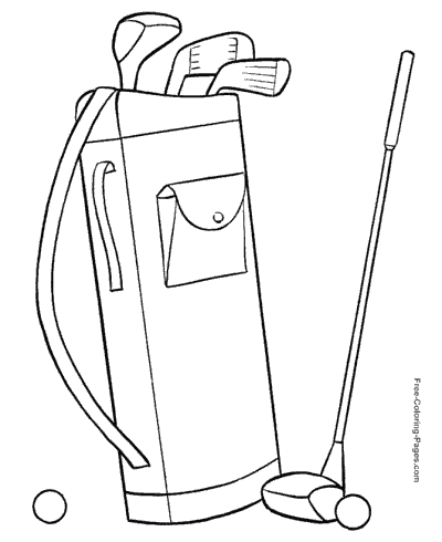 coloring book pages golf clubs - photo#30