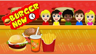 Burger Now kids game