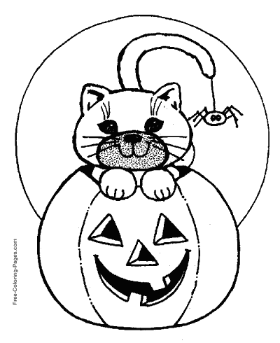 Halloween Coloring Pages | 490x400