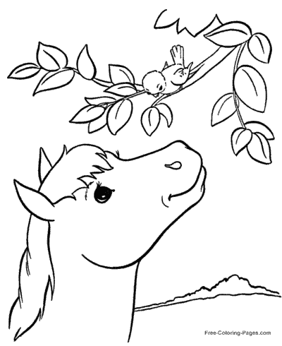 Free Horse Coloring Pages | Haramiran | 490x400
