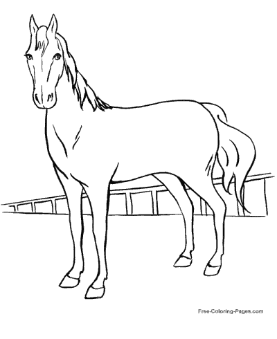 Horse Coloring Pages, Sheets And Pictures