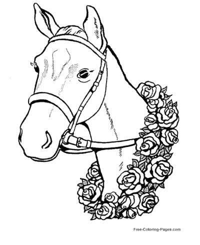 Horse mommy and pony coloring page Horse coloring pages | Claus ... | 490x400