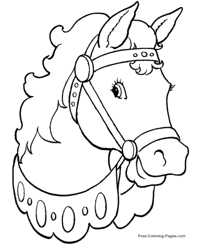 horse coloring pages - Free Coloring Pages Horses