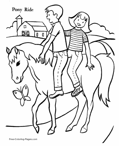 Coloring Pages Of Horses