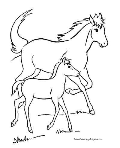 coloring pages of horses - Free Coloring Pages For Horses