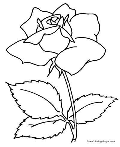 Rose for Mom page to color