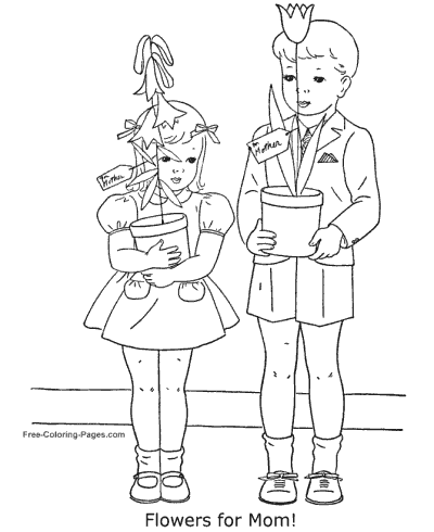 Mother´s Day coloring pages