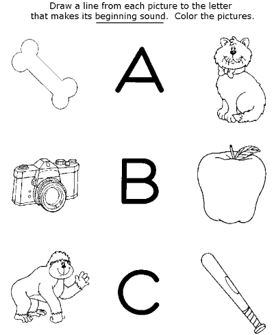 preschool activity worksheets