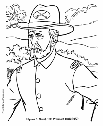 Presidents Day coloring pages
