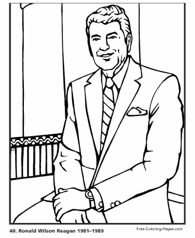 President 180 S Day Coloring Pages