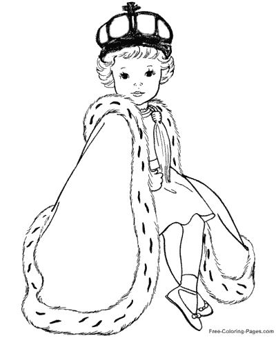 Princess sheets to color