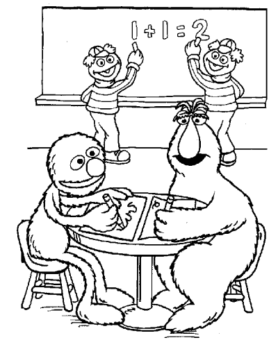 - Sesame Street Coloring Pages