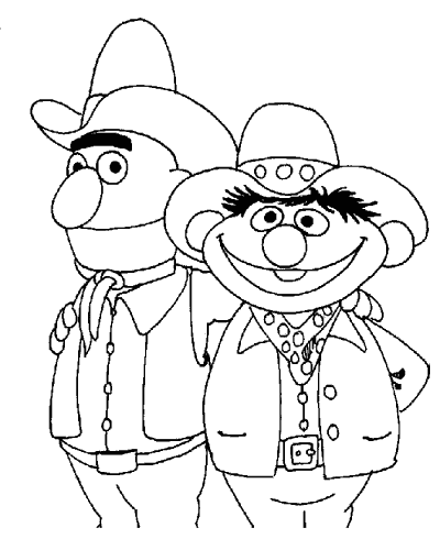 Sesame Street coloring pages to color