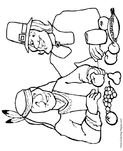 Thanksgiving Coloring Pages Sheets