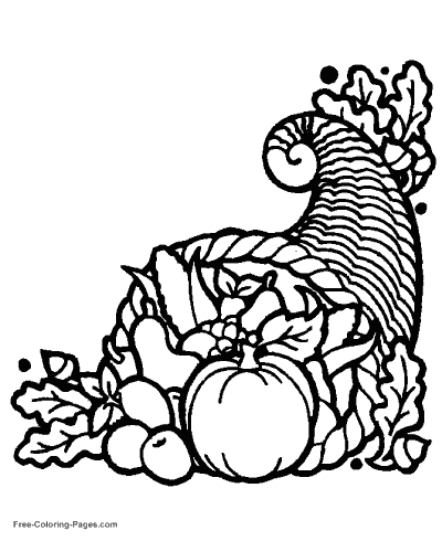 thanksgiving coloring pages - Thanksgiving Color Pages Free