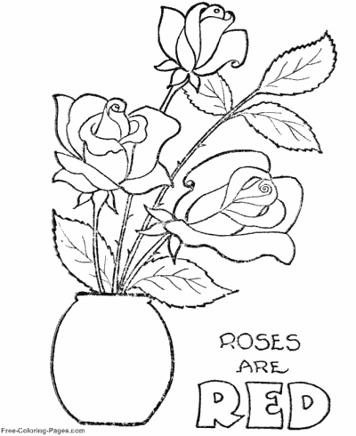 valentines day coloring pages - Valentine Free Coloring Pages