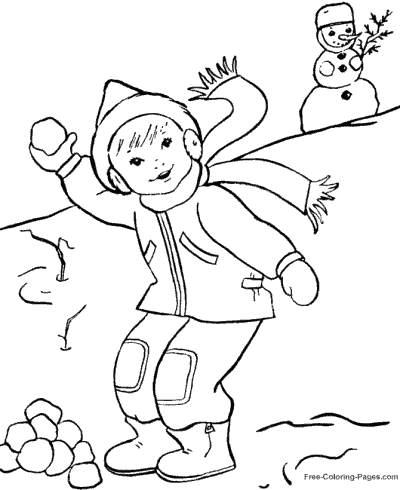 Winter Coloring Pages Sheets and