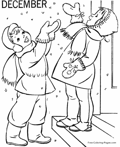 Winter Coloring Pages Sheets and Pictures