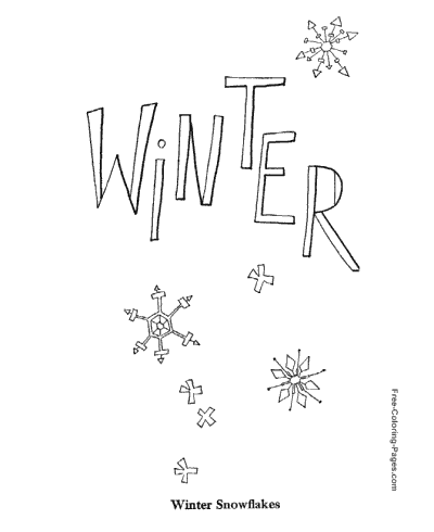 Winter Coloring Pages, Sheets And Pictures